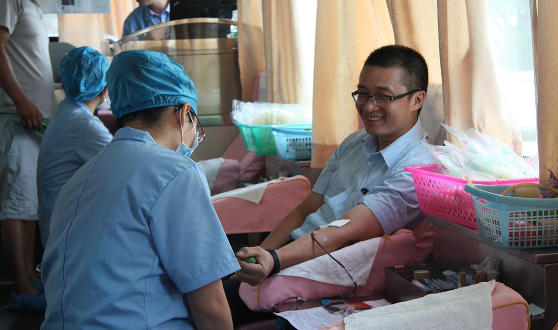 2018年7月14日,组织无偿献血活动